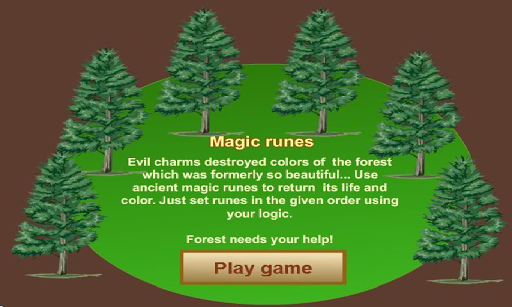 Magic Christmas Forest runes