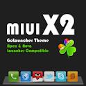 MIUI X2 Go/Apex/ADW Theme FREE logo
