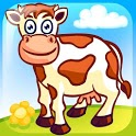 Funny Farm Puzzle for kids icon