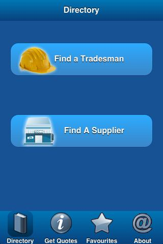 Trades and Suppliers App - screenshot