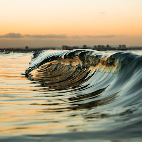 Mirror Mirror by Cameron Watts - Landscapes Waterscapes ( canon, water, sand, reflection, waves, snap, reflections, ocean, fun, beach, dusk, sun, mirror, awesome, sunset, freeze, wave, glass, surf, reflective, , Beach, blue, ocean.  )