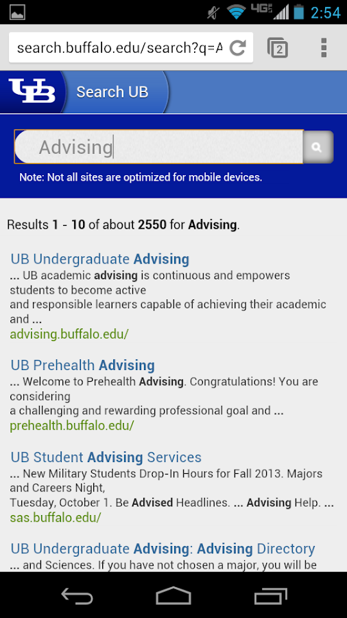 UB Mobile (Univ. at Buffalo)- screenshot