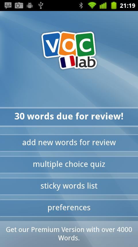 Learn French Flashcards - screenshot