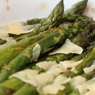 Asparagus with Parmesan.