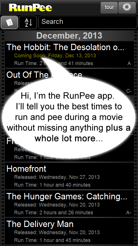 RunPee - screenshot