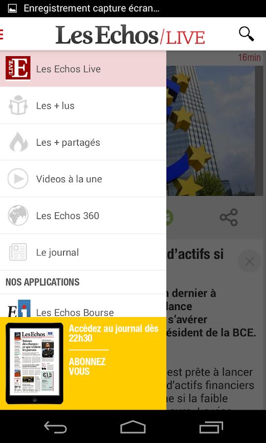 Les Echos Live - screenshot