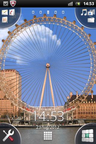 Fireworks London Eye LWP HD screenshot