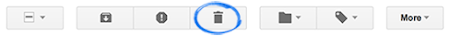 Gmail Delete icon