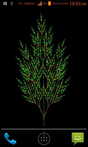 Fractal Trees Live Wallpaper