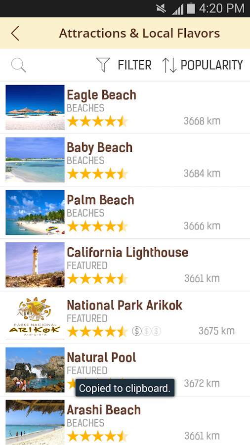 Aruba Travel Guide- screenshot