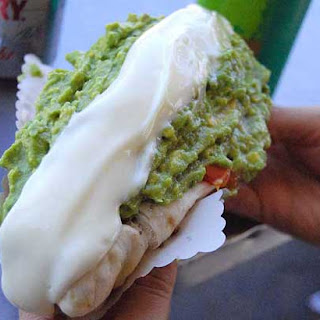 Guac Italiano Hot Dog - the Go-To hot dog from Chile spiced up a bit..