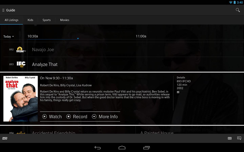 XFINITY TV- screenshot