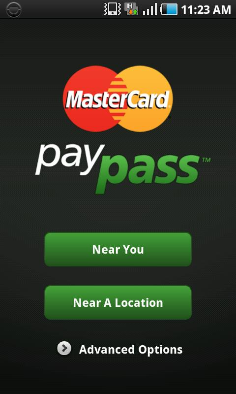 MasterCard PayPass Locator - screenshot