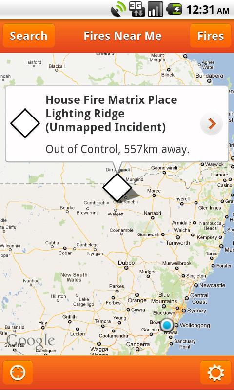 Fires Near Me NSW - screenshot