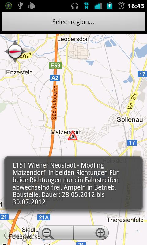 TrafficChecker .at/.de/.uk - screenshot