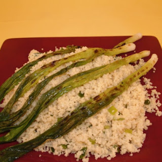 Couscous With Grilled Scallions.