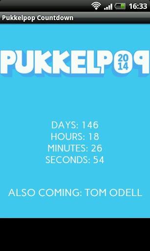 Pukkelpop 2014 Countdown