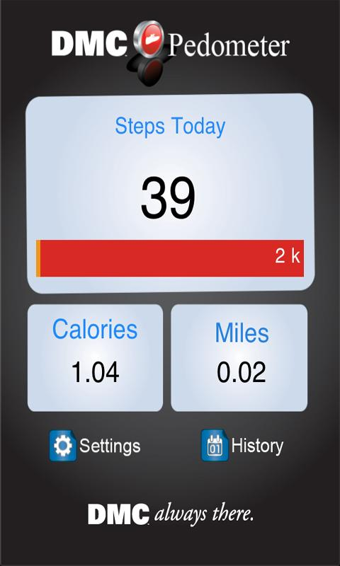 DMC Pedometer - screenshot