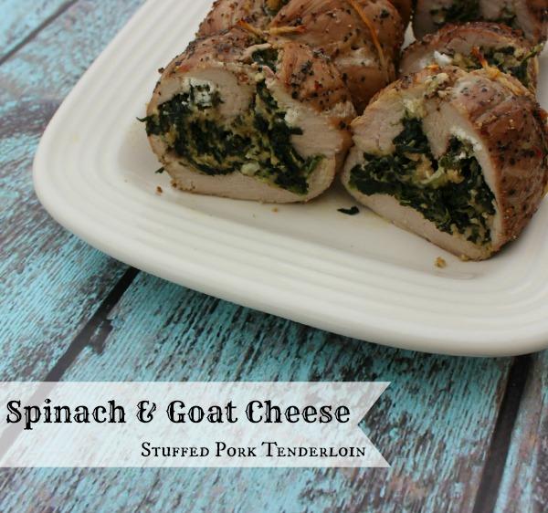 Spinach & Goat Cheese Stuffed Pork Tenderloin