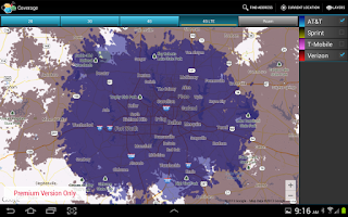 Screenshot of CellMaps Mobile Coverage