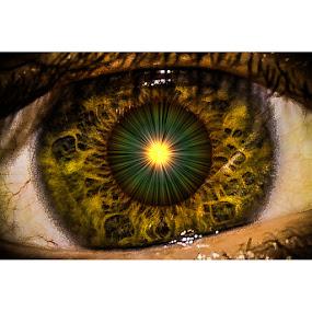 inner sun by Adrian Kurbegovic - Digital Art Abstract ( eye,  )