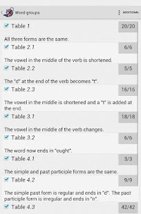 Irregular verbs Pro - screenshot thumbnail