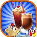 Ice coffee maker – Kids game icon