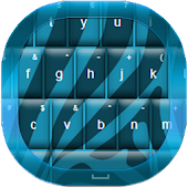 Zebra Blue Keyboard