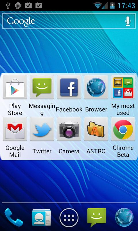 My Most Used Apps Widget - screenshot