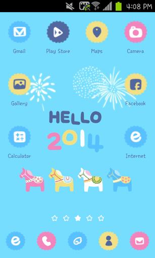 HELLO 2014 go launcher theme