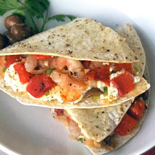 Shrimp & Goat Cheese Quesadillas.
