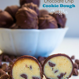 Chocolate Chip Cookie Dough Truffles {Raw, Edible}.