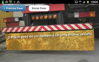 Screenshot of Frases de Para-choque