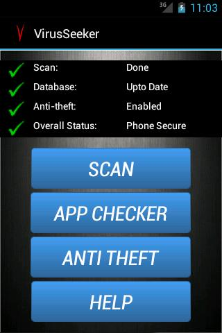Virus Seeker Mobile Security - screenshot