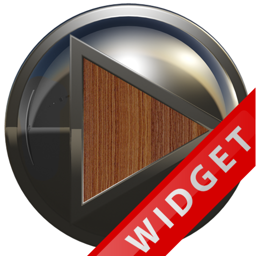 Poweramp Widget Brown Wood Met