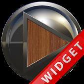 Poweramp Widget Brown Wood Met