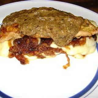 Chicken with Brie and Caramelized Onions