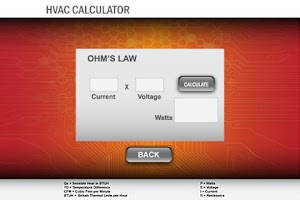 Screenshot of HVAC Calculator