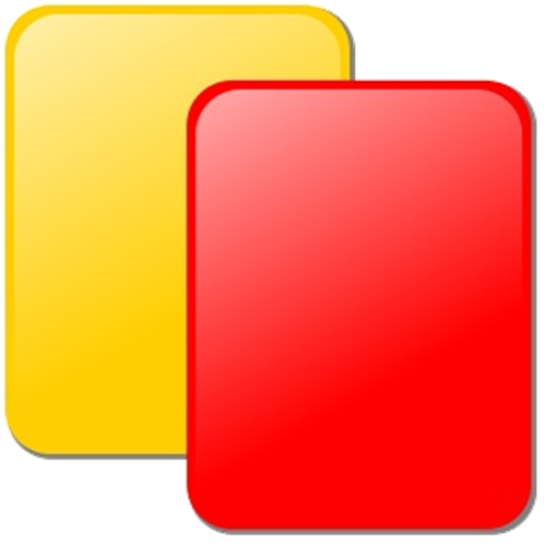red yellow card