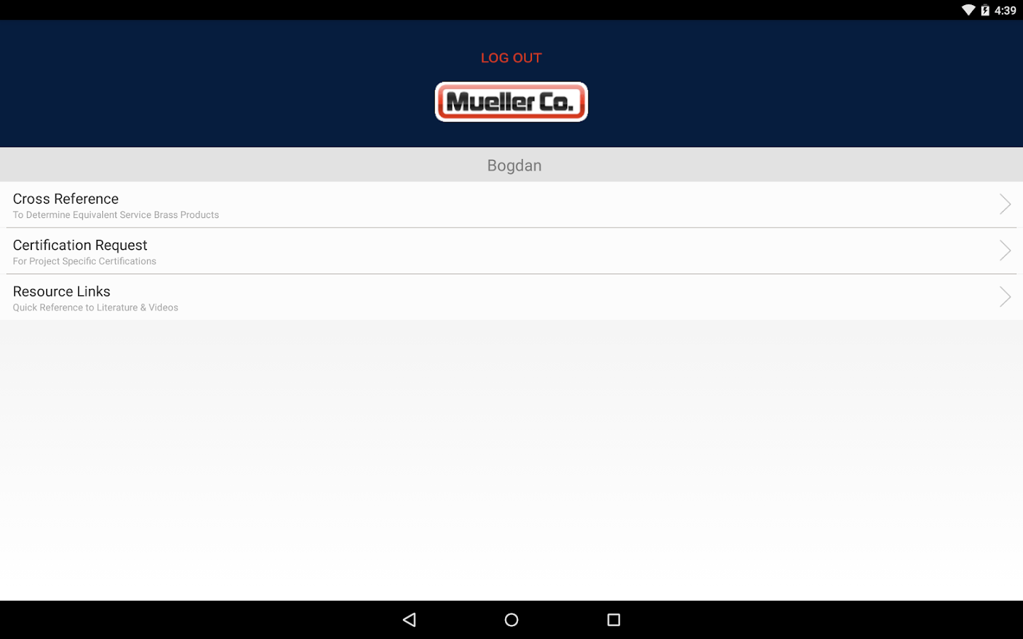 Mueller Co.- screenshot