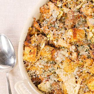 Savory Bread Pudding.