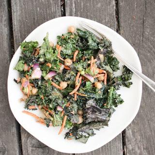 Raw Kale Salad With Spicy Peanut Vinaigrette