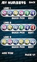 Screenshot of Lotto Number Generator