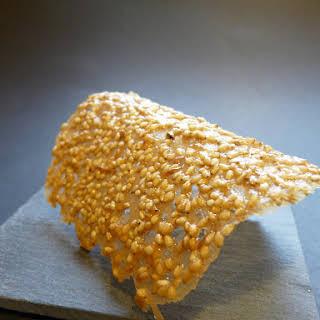 Crispy Sesame Tuile Cookies.