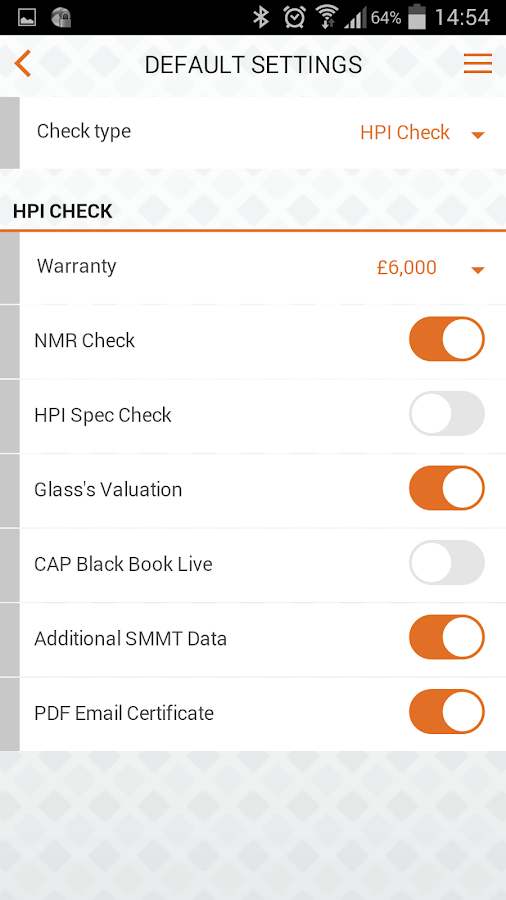 cap hpi Trade- screenshot