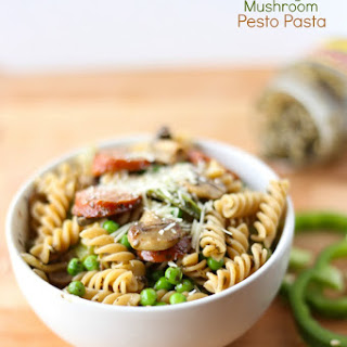 Sausage Mushroom Pesto Pasta
