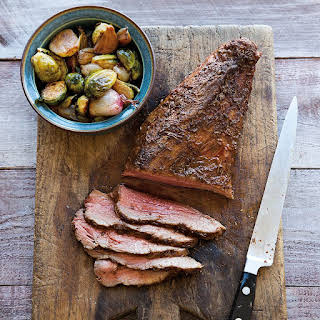 Spiced Tri-Tip with Roasted Brussels Sprouts.