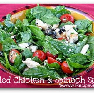 Grilled Chicken and Spinach Salad.
