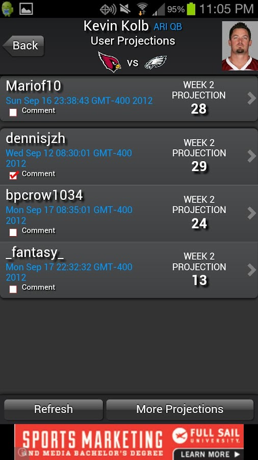 Fantasy Football Predictor '14 - screenshot