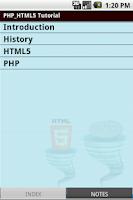 Screenshot of Html5 & Php Tutorial